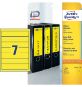 Rückenschilder L4765-20 38 x 192 mm gelb zum aufkleben 140 Stück