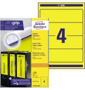 Ordnerrücken L4769-100 61 x 192 mm gelb zum aufkleben 400 Stück