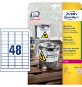 Etiketten L4778-20 45,7 x 21,2 mm weiß 960 Stück PE Folie wetterfest