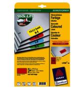 Etiketten ROT L4790-20 38,1 x 21,2 mm 1300 Stück Mini Etiketten Stick&Lift