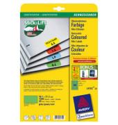 Etiketten GRÜN L4792-20 38,1 x 21,2 mm 1300 Stück Mini Etiketten Stick&Lift