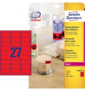 NEON Etiketten ROT L6003-25 63,5 x 29,6 mm 675 Stück ablösbar