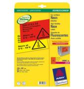 NEON Etiketten ROT L6005-25 210 x 297 mm 25 Stück ablösbar