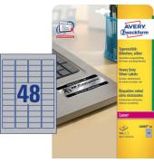 Typenschild Etiketten L6009-20 silber 45,7 x 21,2 mm 960 Stück Folie strapazierfähig wetterfest