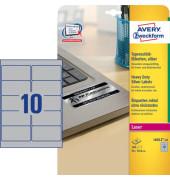 Typenschild Etiketten L6012-20 silber 96 x 50,8mm 200 Stück Folie strapazierfähig wetterfest