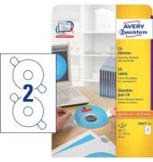 CD Etiketten L6015-25 Ø 117 mm weiß 50 Stück CDs / DVDs
