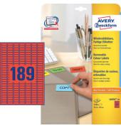 Etiketten ROT L6036-20 25,4 x 10 mm 3780 Stück ablösbar