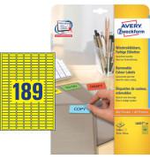 Etiketten GELB L6037-20 25,4 x 10 mm 3780 Stück ablösbar