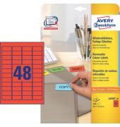 Etiketten ROT L6038-20 45,7 x 21,2 mm 960 Stück ablösbar