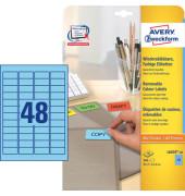 Etiketten BLAU L6039-20 45,7 x 21,2 mm 960 Stück ablösbar