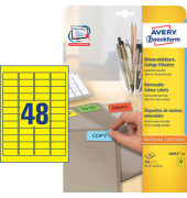 Etiketten GELB L6041-20 45,7 x 21,2 mm 960 Stück ablösbar