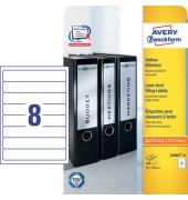 Etiketten L6060-25 34 x 192 mm weiß zum aufkleben 200 Stück