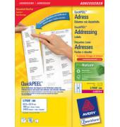 L7159-100 Adress Etiketten 64 x 33,9 mm weiß 2400 Stück Quick Peel