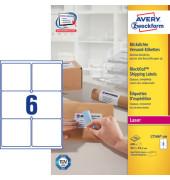 L7166-100 Versand Etiketten 99,1 x 93,1mm weiß 600 Stück blickdicht