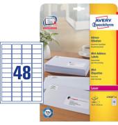 Etikett Mini, I/L/K, sk, Pap., 45,7x21,2mm, weiß (1200 stk)