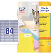 Etiketten L7656-25 46 x 11,1 mm weiß 2100 Stück Mini Organisationsetiketten