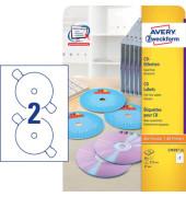 CD Etiketten L7676-25 Ø 117 mm weiß 50 Stück SuperSize
