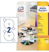 DVD Etiketten L7860-20 Ø 117 mm weiß 40 Stück