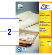 Etiketten LR3655 210 x 148 mm weiß 200 Stück Recycling