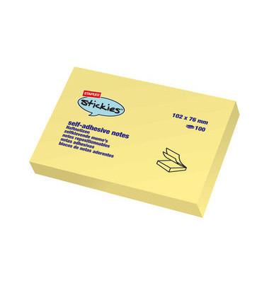 Haftnotizen stickies 76 x 102mm gelb 12x100 Blatt