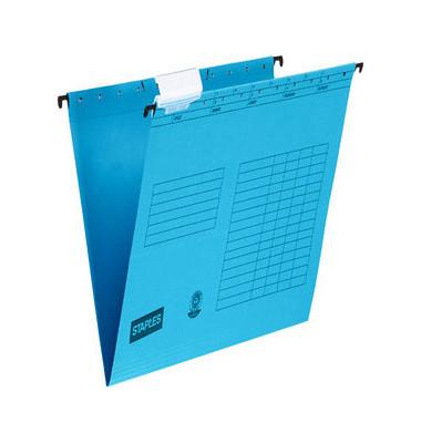 Hängemappen A4 blau Natron 230g mit Reiter seitlich offen 25 Stück 1034499