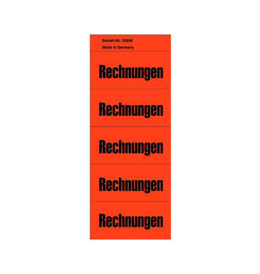 Inhaltsschilder Rechnungen rot 57x28mm selbstklebend 100 Stück