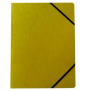 Eckspannmappe A4 370g Karton gelb