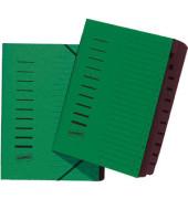 Ordnungsmappe A4 12-tlg. grün