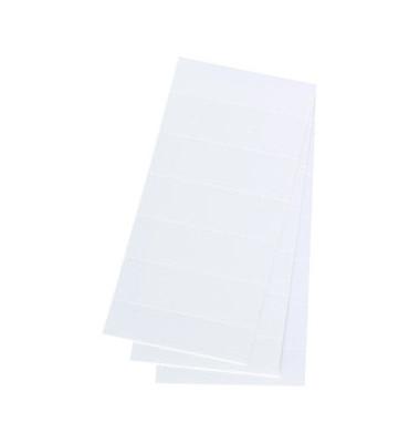 Einsteckschilder Beschriftungsschilder weiß 58x18mm 100 Stück