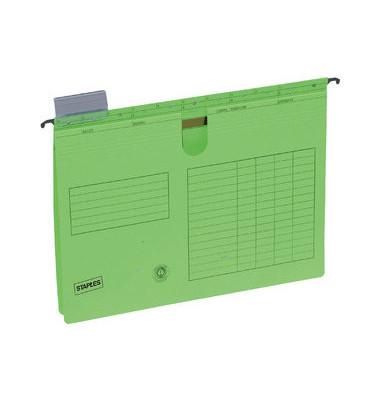 Hängehefter A4 230g Karton grün kaufmännische Heftung mit Reiter 25 Stück