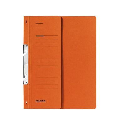 Einhakhefter A4 orange halber Vorderdeckel kaufmännische Heftung