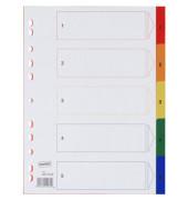 Kunststoffregister 1227263 1-5 A4 0,12mm farbige Taben 5-teilig