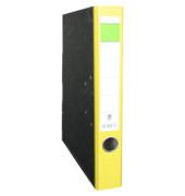Ordner A4 Wolkenmarmor gelb 50mm schmal grüner Balken
