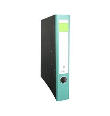 Ordner A4 Wolkenmarmor grün 50mm schmal grüner Balken