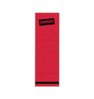 Rückenschilder 62 x 190 mm rot 10 Stück zum aufkleben