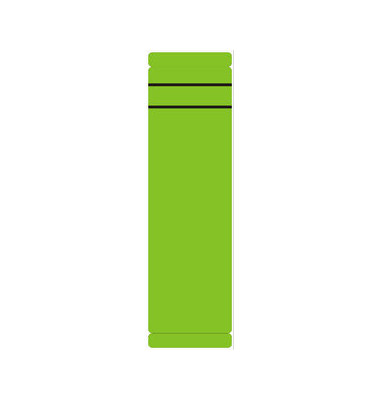 Rückenschilder 62 x 190 mm grün 10 Stück zum aufkleben