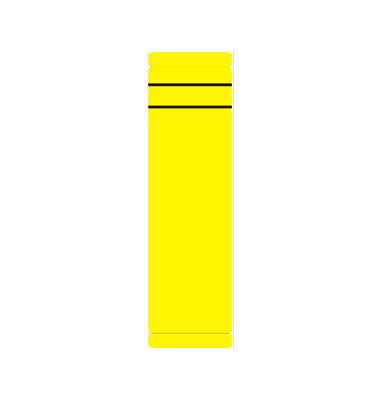Rückenschilder 62 x 190 mm gelb 10 Stück zum aufkleben