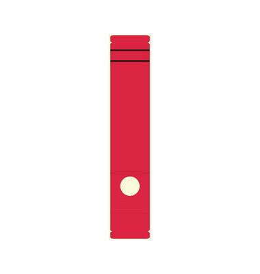 Rückenschilder 62 x 289 mm rot 10 Stück zum aufkleben