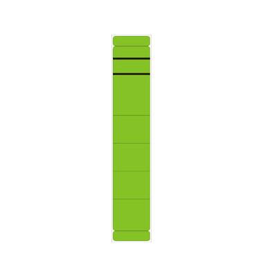 Rückenschilder 39 x 190 mm grün 10 Stück zum aufkleben