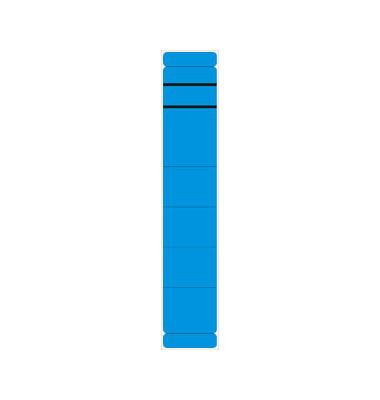 Rückenschilder 39 x 190 mm blau 10 Stück zum aufkleben