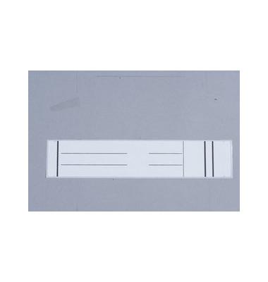 59 x 280 mm weiß Rückenschilder 10 Stück zum aufkleben für Hängeordner