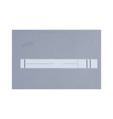 34 x 280 mm weiß Rückenschilder 10 Stück zum aufkleben für Hängeordner