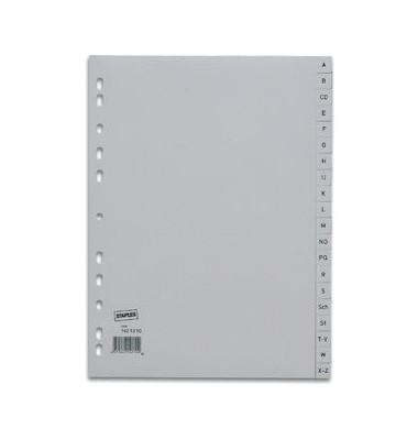 Kunststoffregister 1421310 A-Z A4 0,12mm graue Taben 20-teilig