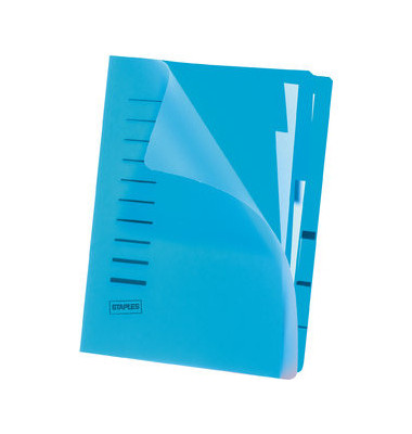 Ordnungsmappe A4 blau PP Eckspanngummi 6 Fächer