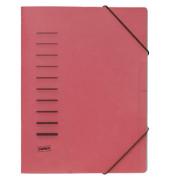 Ordnungsmappe A4 rot PP Eckspanngummi 6 Fächer