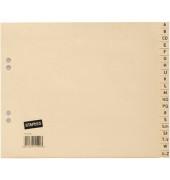 Kartonregister 1450481 A-Z A4 halbe Höhe 80g chamois Taben 20-teilig