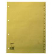 Kartonregister 1451306 A-Z A4 100g chamois Taben 20-teilig