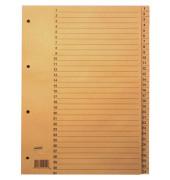 Kartonregister 1-31 A4 100g chamois Taben 31-teilig
