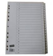 Kartonregister A-Z A4 170g weiße Taben 20-teilig