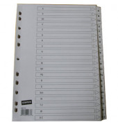 Kartonregister 1467773 A-Z A4 170g weiße Taben 20-teilig